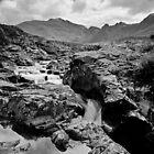 The Fairy Pools, Glen Brittle, No 1 (mono version) by Kevin Allan