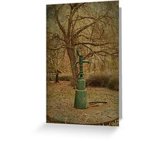 Water Fountain Greeting Card