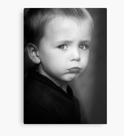 I will Not Smile Metal Print