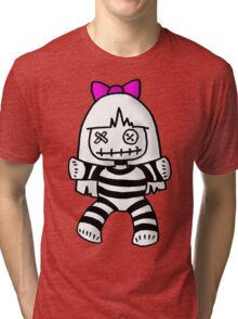 Stripey doll Tri-blend T-Shirt