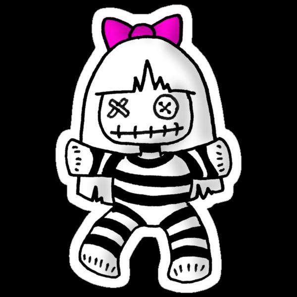 Stripey doll by Philip Bedard