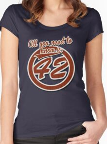 All you need to know is 42 Women's Fitted Scoop T-Shirt