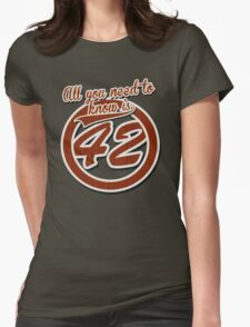 All you need to know is 42 Womens Fitted T-Shirt
