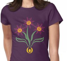 Camas Flower Womens Fitted T-Shirt