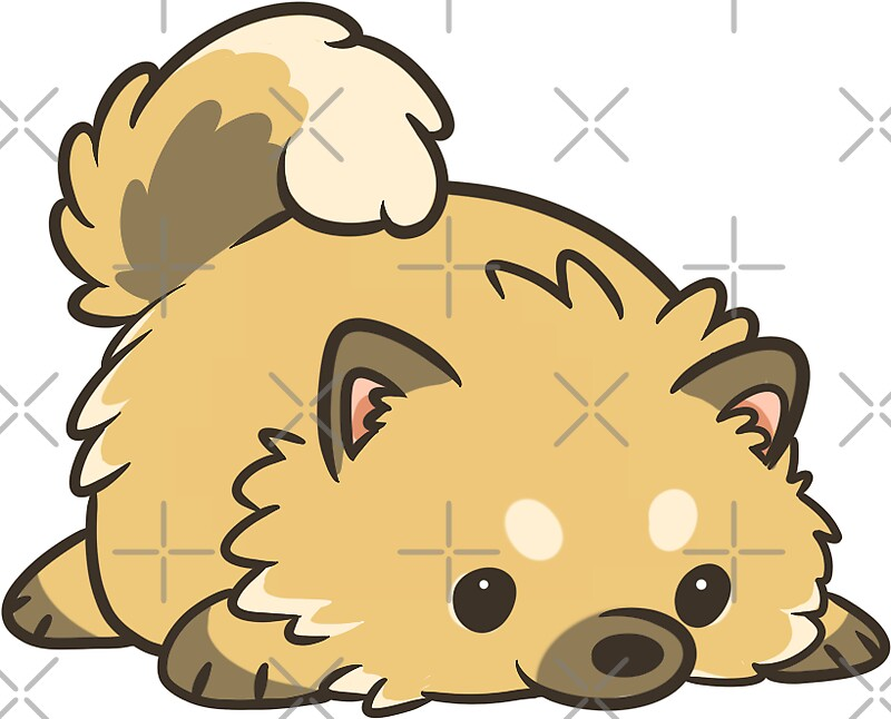 """Miniature Pomeranian"" Stickers by pawlove"