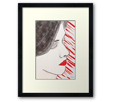 Sultry Profile of a Young Woman Framed Print