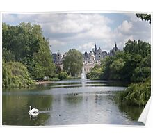 Whitehall From St James's Park, London Poster