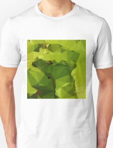 Avocado Green Abstract Low Polygon Background T-Shirt