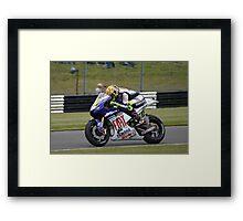 Moto GP Rossi Yamaha Framed Print