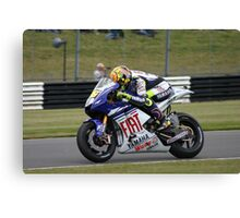 Moto GP Rossi Yamaha Canvas Print