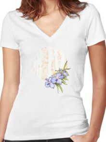 Orchid 4 Women's Fitted V-Neck T-Shirt