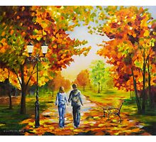 Love in autumn Photographic Print