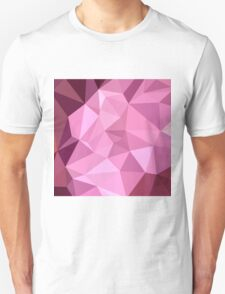 Fandango Purple Abstract Low Polygon Background Unisex T-Shirt
