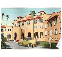Art Deco Fenway Hotel, Dunedin, Florida Poster