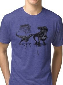 Dinosaur fight Tri-blend T-Shirt