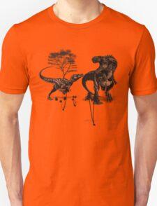 Dinosaur fight Unisex T-Shirt
