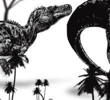 Dinosaur fight Sticker