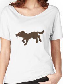 Chocolate Labrador Retriever Running Women's Relaxed Fit T-Shirt