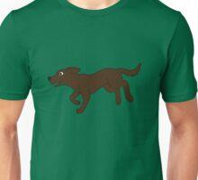 Chocolate Labrador Retriever Running Unisex T-Shirt