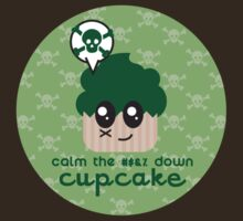 Simmer Down! A cupcake shirt that tells you to just calm down by LucyDynamite