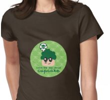 Simmer Down! A cupcake shirt that tells you to just calm down Womens Fitted T-Shirt