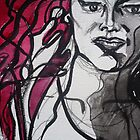 Red &amp; Black Detail by Anthea  Slade