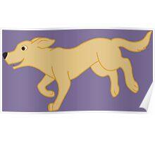 Yellow Labrador Retriever Running Poster