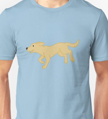 Yellow Labrador Retriever Running Unisex T-Shirt