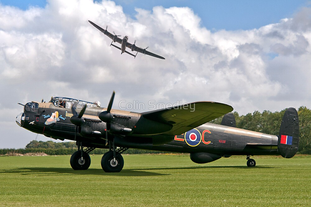 Two Lancasters at East Kirkby by Colin Smedley