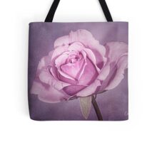 Tinted Rose with Textured Background Tote Bag