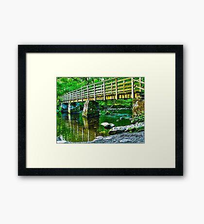 lake placid HDR Framed Print