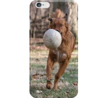 Dog with ball iPhone Case/Skin