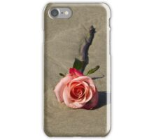 A single rose on the beach iPhone Case/Skin