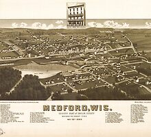 Panoramic Maps Medford Wis county seat of Taylor County before the great fire May 28th 1885 by wetdryvac