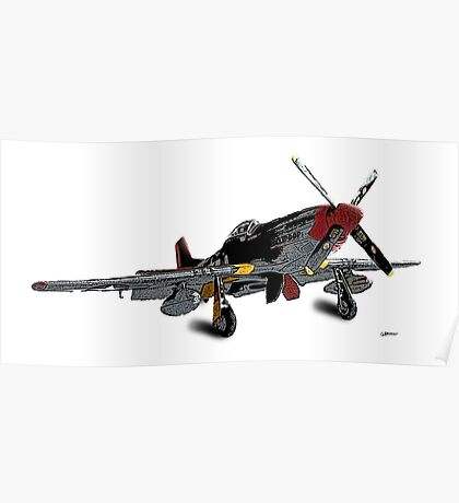 P-51D Mustang - Red Tails - Tuskegee Airmen Poster