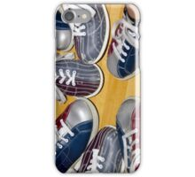 Group of bowling shoes iPhone Case/Skin