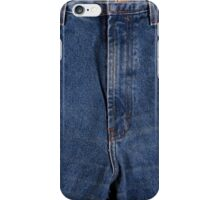 Front fly zipper of denim jeans iPhone Case/Skin