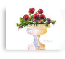Urn at Great Comp in Kent, U.K. Canvas Print