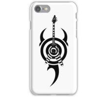 zakk wylde's gibson flying v bullseye tribal black iPhone Case/Skin
