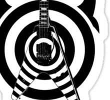 zakk wylde's gibson flying v bullseye tribal black Sticker
