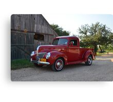 My Red Pickup Truck Canvas Print