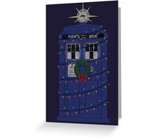 Police Box Christmas Knit Greeting Card