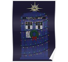 Police Box Christmas Knit Poster