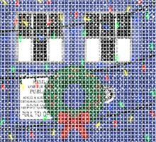 Police Box Christmas Knit Sticker