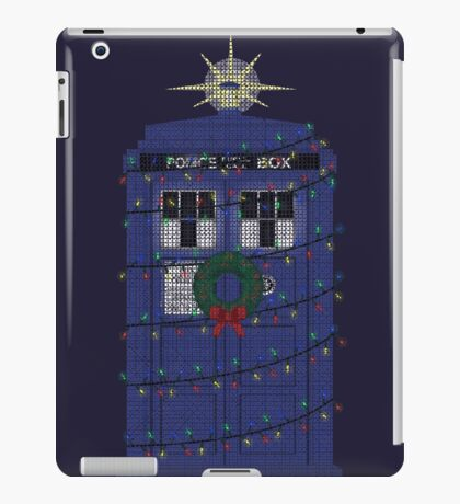 Police Box Christmas Knit iPad Case/Skin
