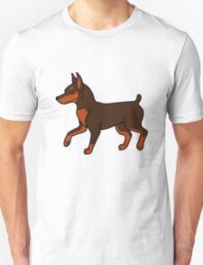 Chocolate Miniature Pinscher Unisex T-Shirt