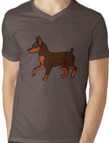 Chocolate Miniature Pinscher Mens V-Neck T-Shirt