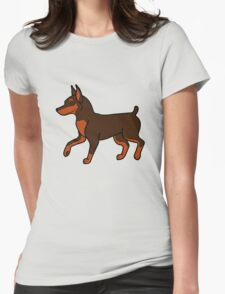 Chocolate Miniature Pinscher Womens Fitted T-Shirt