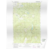 USGS Topo Map Washington State WA Cliff Ridge 240575 1964 24000 Poster