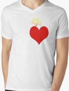 Coronary Mens V-Neck T-Shirt